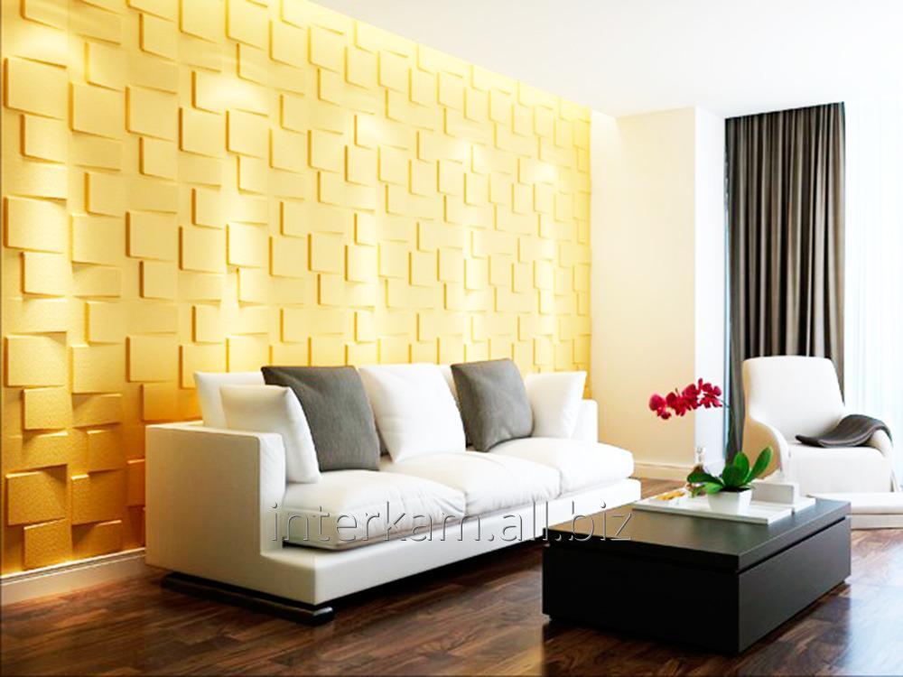 Plaster decorative 3D Squares panels buy in Kostanaj