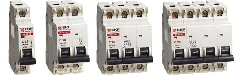 Купить Автоматические выключатели ВА47-63