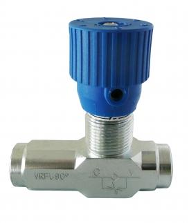 Buy Valve throttle unilateral VRFU-90 °-1/4, cracking pressure 0,5 bar, max. 15 l/min., max. 350 bar