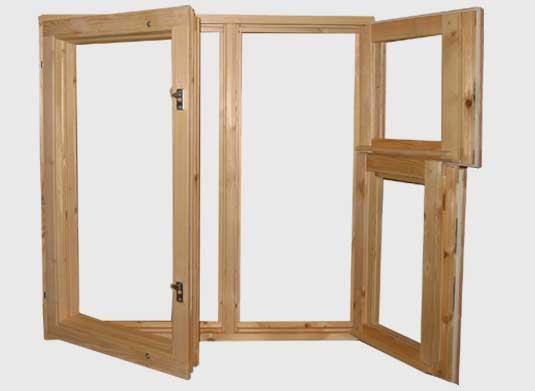 قاب  های پنجره چوبی