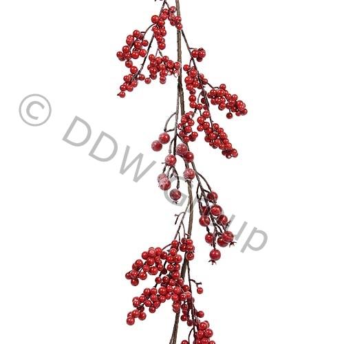 Купить Гирлянда декоративная с красными ягодами