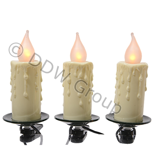 Купить Гирлянда Свечи c мерцанием белые