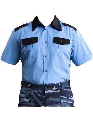 Купить Рубашка для охранника - цвет голубой