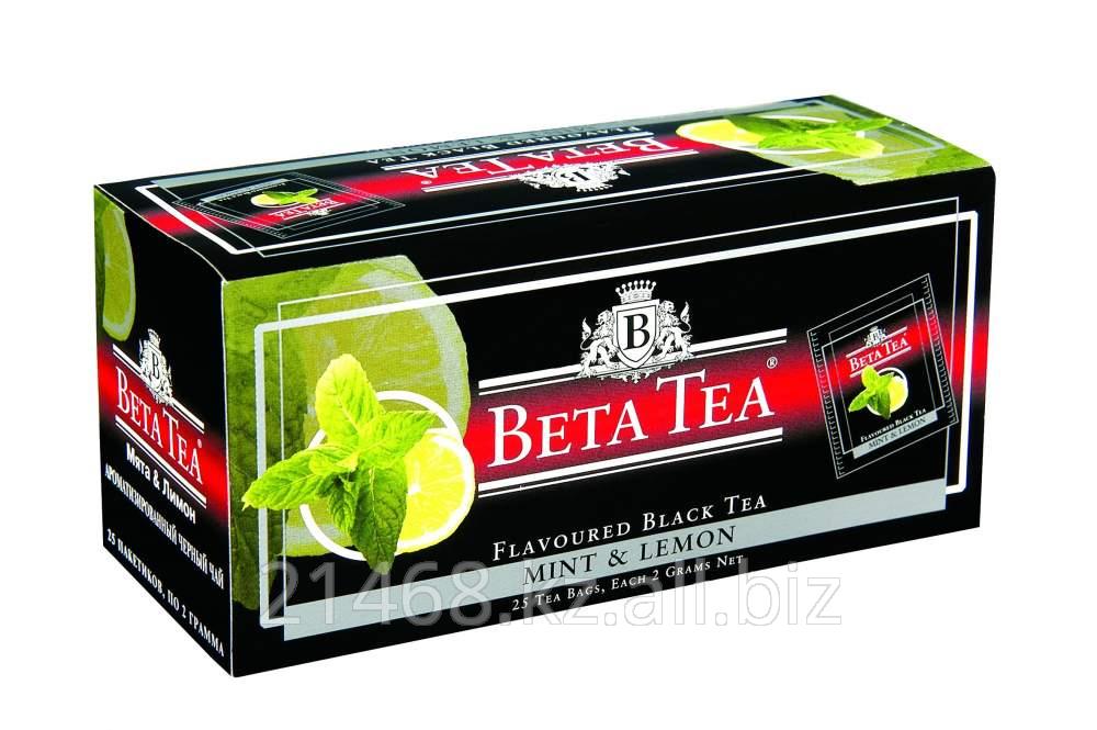 Beta Tea, Mint&Lemon, Пакетированный