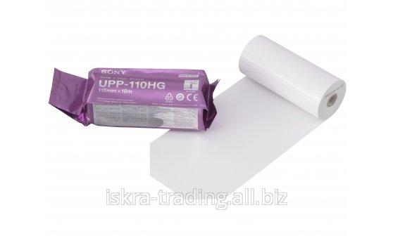 UPP-110HG Бумага для УЗИ принтера ч/б, глянцевая, формат A6