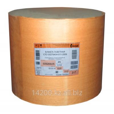 Бумага газетная Монди, белизна 65% плотность 48,8 гм2 формат 84 см