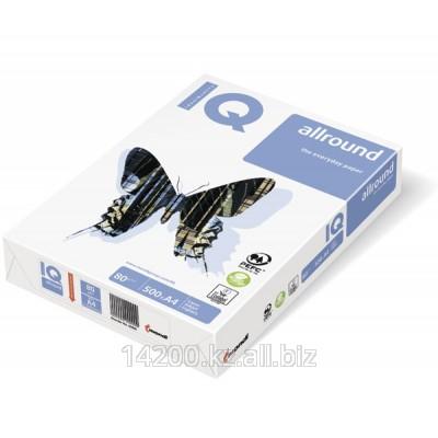 Бумага IQ-allround Монди, класс В, белизна CIE - 162%, плотность 80 гм2 формат А4 , 21 х 29,7см