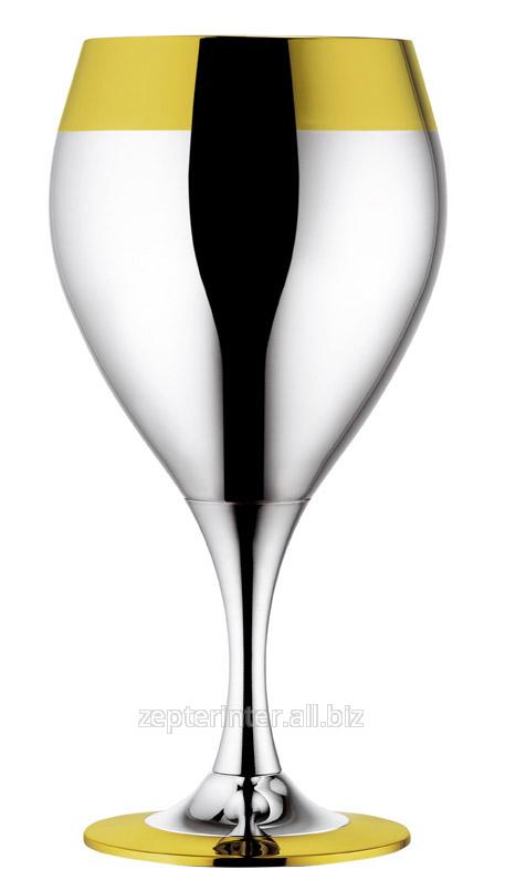 Купить Набор бокалов для вина посеребр.с золот.декором, 6 шт. LS-173-2-DG