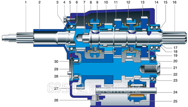 Коробка переключения передач КПП УАЗ 469 5-ст. АДС Артикул: 3182-1700010