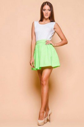 1935cbb962 Summer dress with white top and a green skirt 51349 buy in Almaty
