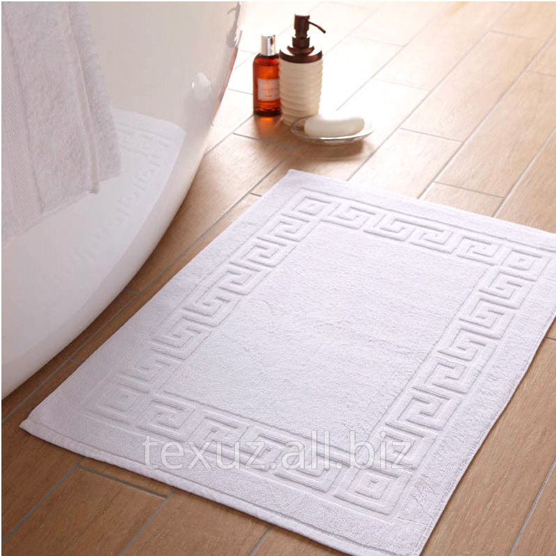 Полотенце махровое белое для ног 50х70см 100% хлопок