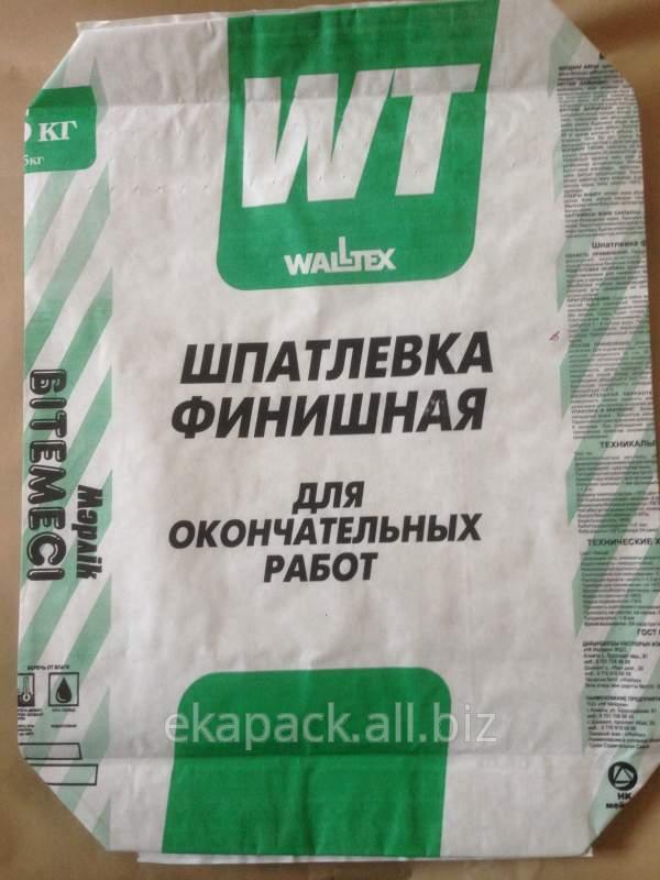 """Купить Мешки """"Финишная шпатлевка Walltex"""""""