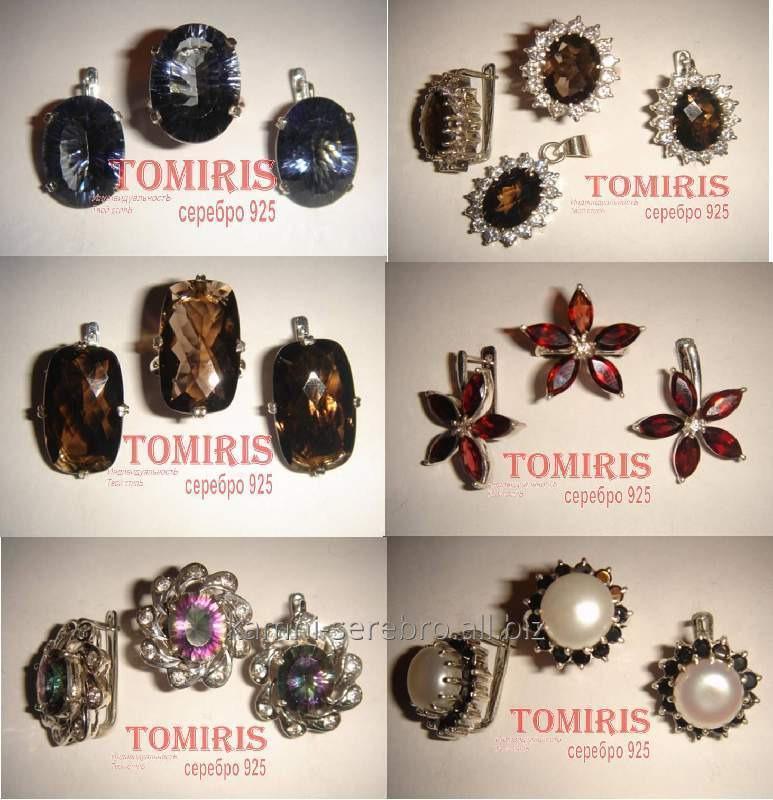 da68e9360e8d Ювелирные украшения из серебра с натуральными камнями купить в Алматы