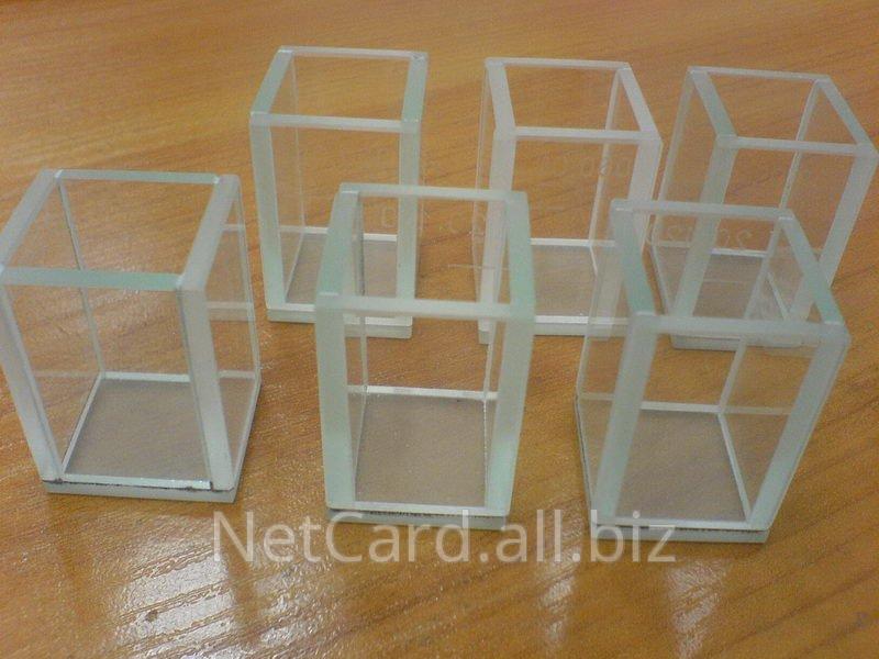 Кюветы оптические стеклянные с длиной оптического пути 1-100мм для фотометров
