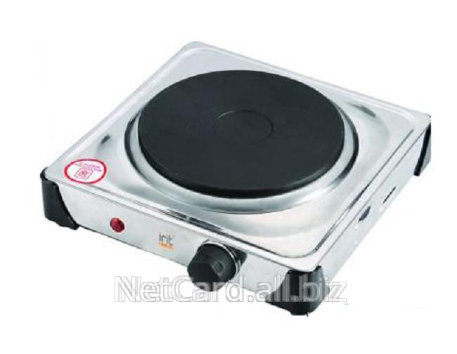 Купить Электроплитка Irit IR-8201 1-конф.с терморегуляцией, закр.спираль, 1,0кВт корпус н/ж