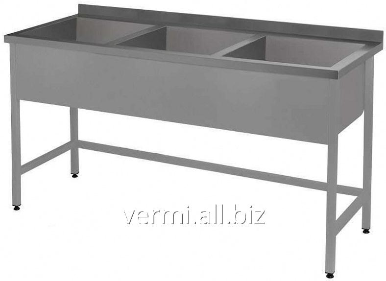 Купить Моечная ванна 3-х секционная ВМ 1200x400x850 мм с бортом