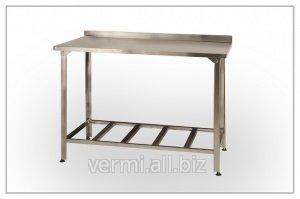Buy Table SPP, production with additional shelf, 1000х600х850 stainless steel