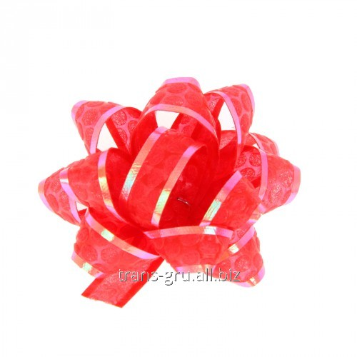 Buy Bow star No. 5 Honeycombs, color red
