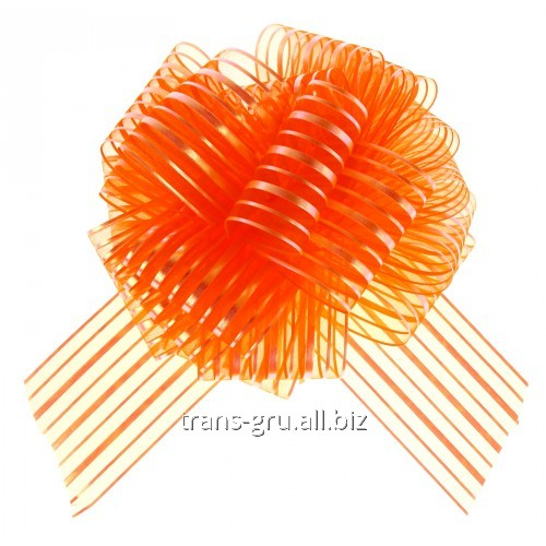Купить Бант-шар №10 Полоски , цвет оранжевый