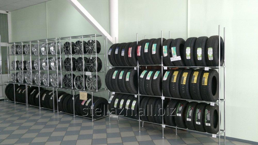 Стеллажи металлические, Стойка для диска и шины