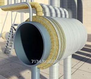 Каменноватные цилиндры с кашировкой алюминиевой фольгой Isotec Section AL, внутренний диаметр 45 мм