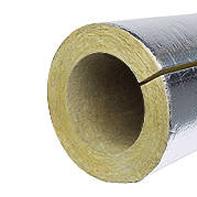 Каменноватные цилиндры с кашировкой алюминиевой фольгой Isotec Section AL, внутренний диаметр 54 мм