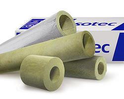 Каменноватные цилиндры с кашировкой алюминиевой фольгой Isotec Section AL, внутренний диаметр 140 мм