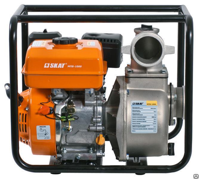 Купить Мотопомпа бензиновая для перекачки чистой воды SKAT МПБ-1000