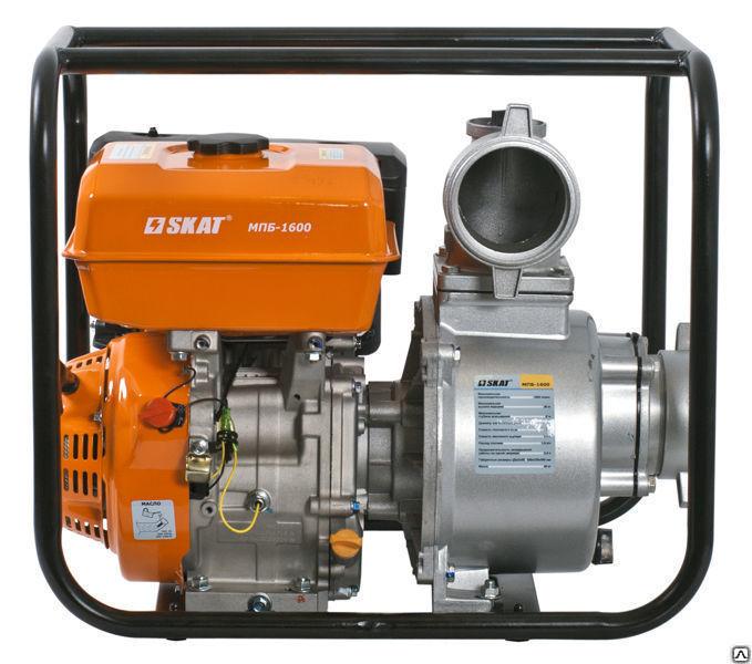 Купить Мотопомпа бензиновая для перекачки чистой воды SKAT МПБ-1600