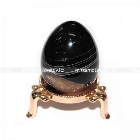 Купить Сувенир Яйцо Черный Агат 220049