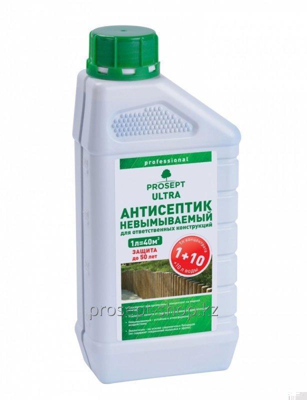 Антисептик невымываемый для внутренних и наружных работ 008-1 ультра концентрат 1:10, 1 л.