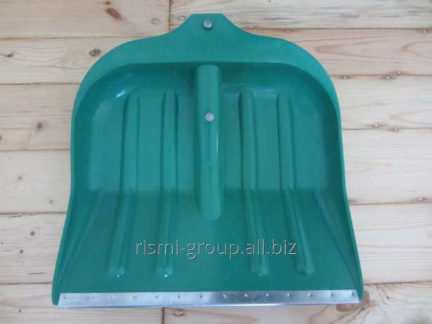 Shovel plastic No. 8, 390 x 490 with the aluminum black V handle