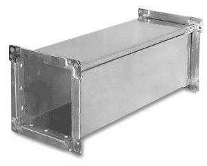 Прямоугольный воздуховод изделия из оцинкованной стали 0,9мм