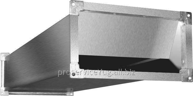 Шумоглушитель для прямоугольных воздушных каналов Shuft SRr 1000*500