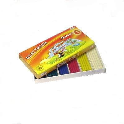 Buy Plasticine 6 tsv. Beam