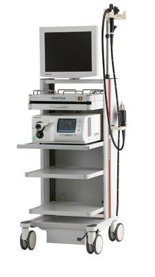 The video endoscopic Pentax EPK-i7010 OPTIVISTA system with permission of HD+