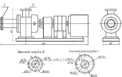 Агрегат электронасосный винтовой пищевой НВ 10-65