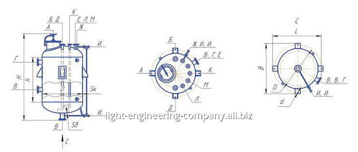 Аппарат вертикальный цельносварной типа ВЭЭ
