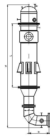 Испаритель со стекающей пленкой к ректификационным колоннам по ОСТ 26-01-50-77