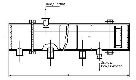 Подогреватель пароводяной для тепловых сетей по ОСТ 108271105-76
