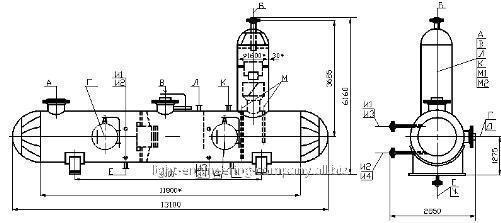 Сепаратор очистки природного газа