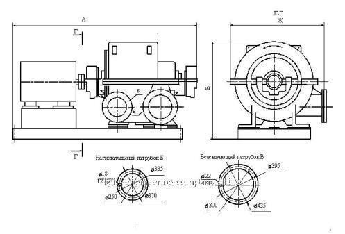Турбокомпрессор газовый многоступенчатый
