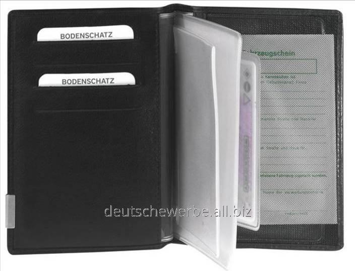 Обложка для автодокументов Bodenschatz Ausweis Etui  schwarz   , арт. 8-414 KN 01