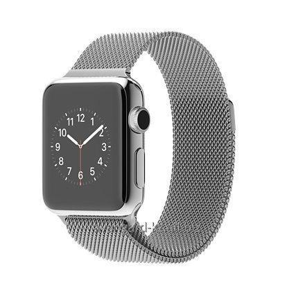 Умные часы Apple Watch 38mm Stainless Steel Case with Milanese Loop MJ322