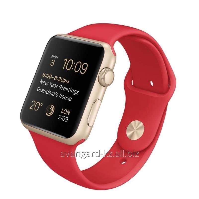 Купить Умные часы Apple Watch Sport 42mm Gold Aluminum Red Sport Band MMEE2 Product red™
