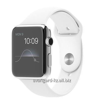 Купить Умные часы Apple Watch 42 mm Stainless Steel Case with Sport Band White MJ3V2