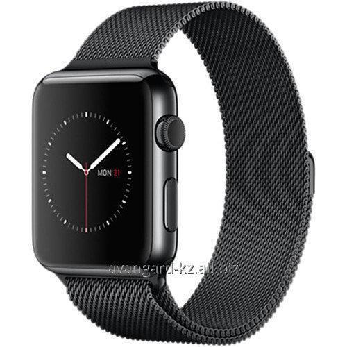 Купить Умные часы Apple Watch 42mm Smartwatch Space Black Stainless Steel, Space Black Milanese Loop Band MMG22