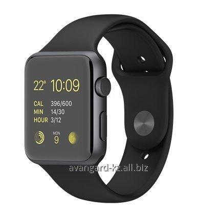Купить Умные часы Apple Watch Sport 42 mm Space Gray Aluminum Case with Black Sport Band MJ3T2