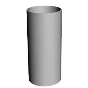 Труба круглая соединительная д-90 мм 1м