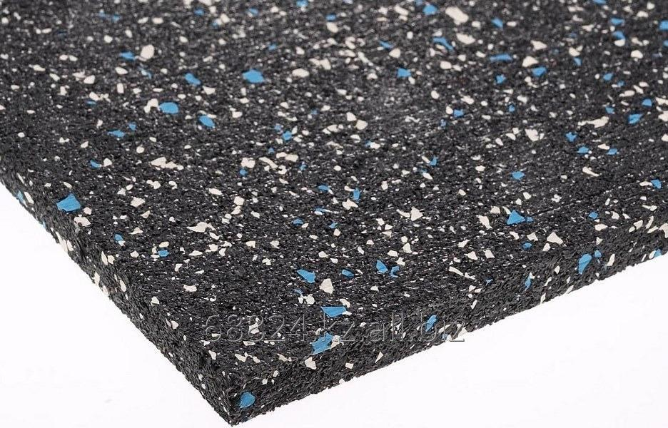 Купить Каучуковое рулонное покрытие мix-цветная крошка EPDM 6*1200*6000 мм, черное однотонное
